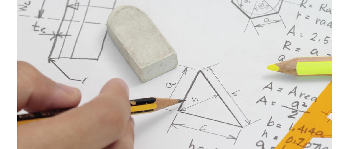 pinta-alojen laskemista kynällä ja paperilla